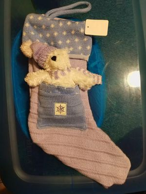 NEW Baby Blue Christmas Stocking for Sale in Highland, IN