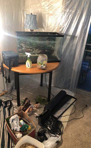 Fish tank + Accessories Super Cheap for Sale in West Palm Beach, FL
