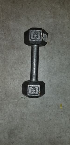 One - 8 Pound Hex Dumbbell for Sale in Pflugerville, TX