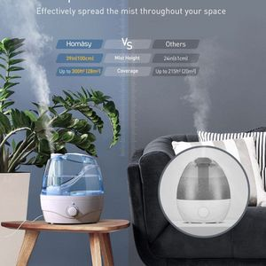 New Brand new !!!Homasy 2.2L Quiet Ultrasonic Bedroom, Easy to Clean Air Humidifier with 360°Nozzle, Auto Shut-Off, Adjustable Mist Output, Blue for Sale in Santa Ana, CA