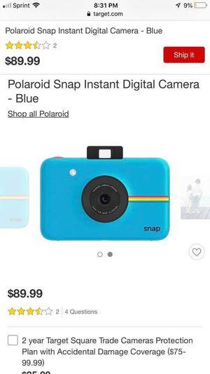 Polaroid Snap 10.0 MP Instant Compact Digital Camera - Blue for Sale in Grand Rapids, MI