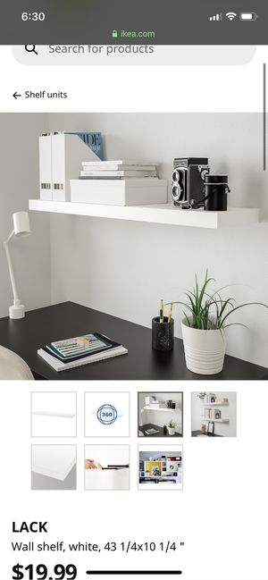 IKEA wall shelf shelves floating decor white for Sale in Los Angeles, CA