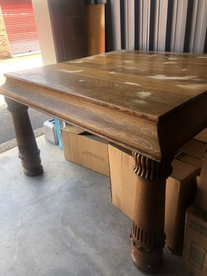Antique Solid Wood Dining Table (Great Refinishing Piece) for Sale in Knoxville, TN
