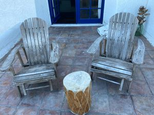 2 outdoor wooden deck chairs for Sale in Los Angeles, CA