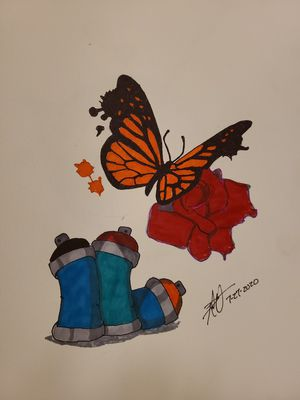 Butterfly and Rose for Sale in Gilmer, TX