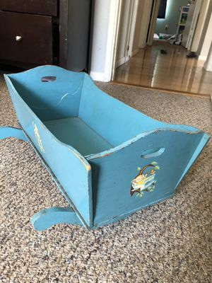 Wooden doll crib for Sale in San Diego, CA
