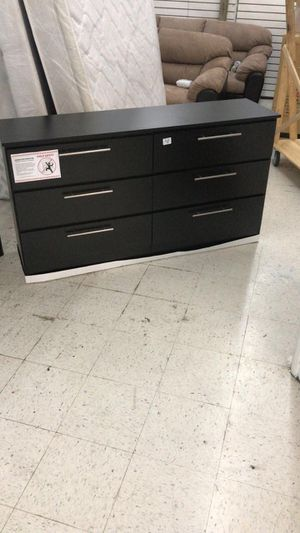 Black Dresser New ~ Comoda ~ Gavetero Negro Nuevo (BLACK or WHITE) for Sale in Miramar, FL