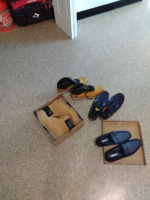 Timberland boots, Levi's boots, Denim Loafers, and Blue Leather Loafers Sizes 13, 12, & 10.5 for Sale in Brentwood, MD