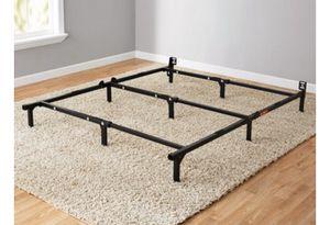 """Mainstays 7"""" Adjustable Bed Frame, Black Steel for Sale in Henrico, VA"""