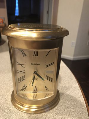 Bulova brass clock for Sale in Dulles, VA