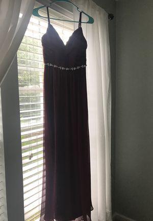 Davids Bridal size 0 dress in wine for Sale in Bristow, VA