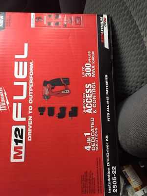 Milwaukee brand new 4 in 1 dedicated solutions drill/ driver kit 2505-22 for Sale in Enfield, CT