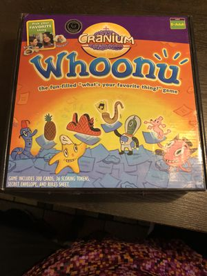 """Whoonu"" Favorite Thing Kids Game for Sale in Vancouver, WA"