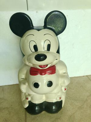 Vintage Walt Disney Mickey & Minnie Turnabout Ceramic Cookie Jar for Sale in Amherst, OH