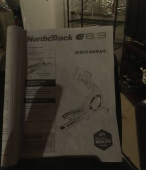"""NordicTrack E6.3 Elliptical, with heart rate monitor, dimensions length 5'7"""", width 2'1"""" for Sale in Hamilton, OH"""