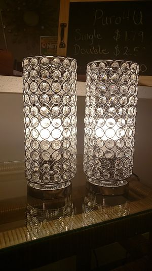 2 Crystal Table Lamps for Sale in Fort Lauderdale, FL