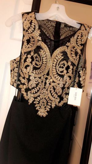Brand New!!! Prom/ Homecoming Dress, Gold& Black for Sale in Alexandria, VA