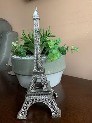 "New 10"" Silver Eiffel Tower Decorative Figurine $24 for Sale in Annandale, VA"