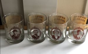 Set of 4 Old West Collectible Water Glasses for Sale in Everett, WA