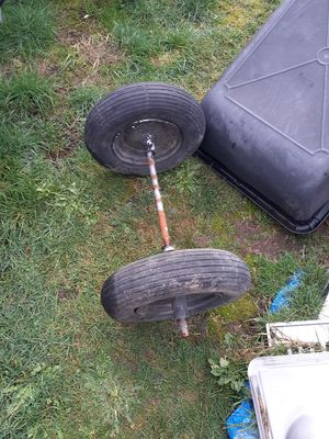 Wheel barrel dual tires and axle set up for Sale in Federal Way, WA