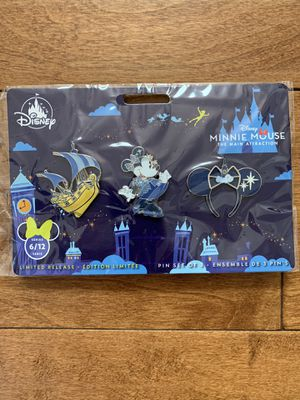 Disney Minnie Mouse Main Attraction Pin Set - Peter Pan Flight Set 6 of 12 - NEW for Sale in La Mirada, CA
