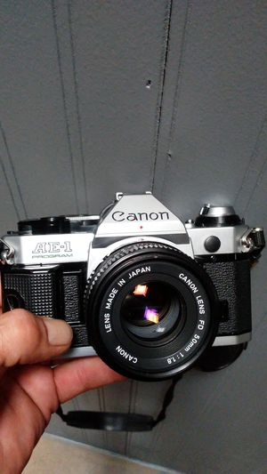 Canon AE-1 Program (Mint!) w/Canon FD 50mm f1:1.8 Prime- Like New!! for Sale in Montclair, CA