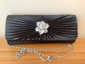 Beautiful Satin Evening Clutch with Metal Shoulder Chain Satin Evening Clutch with Metal Shoulder Chain for Sale in Alpharetta, GA