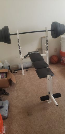 100 Lbs Bench Press Set $80 for Sale in Fresno, CA