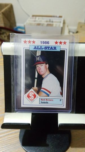 Baseball card- 1986 mark McGwire rc ml minor league for Sale in Roseburg, OR