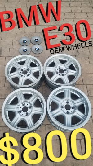 BMW e30 wheels - OEM - 15 inch for Sale in Los Angeles, CA