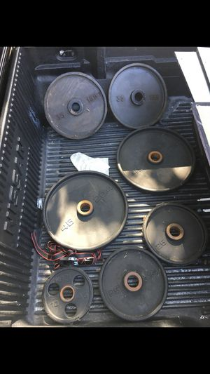 Set of weights and bar for Sale in Los Alamitos, CA