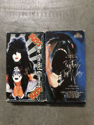 ROCK VHS TOUR MOVIES - KISS PINK FLOYD for Sale in Modesto, CA