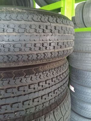 225 75 15 ST trailer tires 8 ply load range d almost new tread$100 for both with free installation for Sale in Tacoma, WA