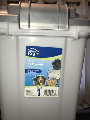 Large all-purpose storage container by home logic for Sale in Hackensack, NJ