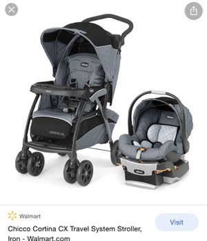 Stroller, car seat and base. Slightly used lass than 6 months. Our daughter out grew it. Retails for $299.99 new. for Sale in Glendale, AZ
