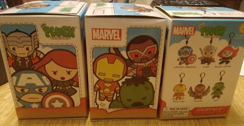 3 New Super Hero Marvel Plushie Clip Blind Bags, Blind Boxes Series 1 for Sale in Bothell,  WA