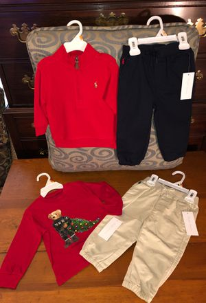 All Brand NEW! Ralph Lauren clothes for baby boy 🎈Size 12 months for Sale in Chesapeake, VA