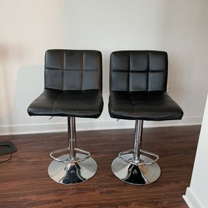 Black Adjustable Stools Set Of 2 for Sale in Chicago, IL