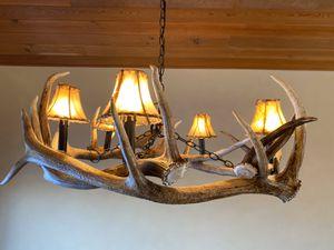 Antler Light Fixture for Sale in Big Sky, MT