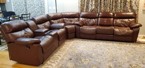 Leather sectional sofa for Sale in Peoria, IL