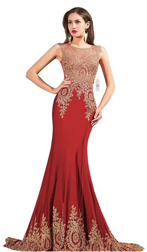 Orient Bride Women's Mermaid Evening Dress Long Formal Prom Gown Mother's Dress with Sequins size 8 for Sale in Raleigh, NC