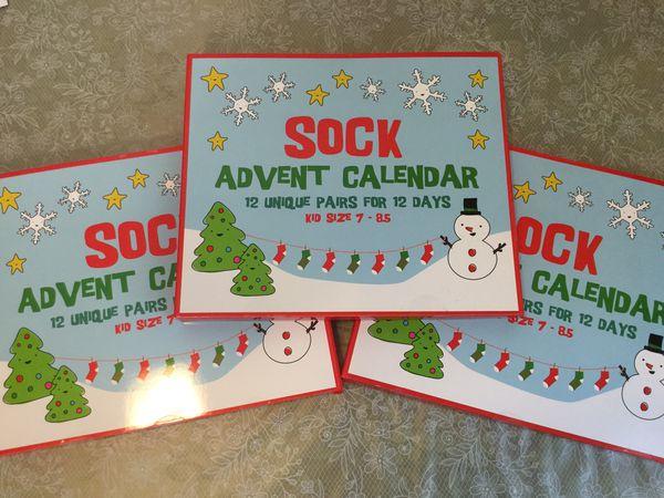 Kids Sock Advent Calendar 12 Pairs 12 Days