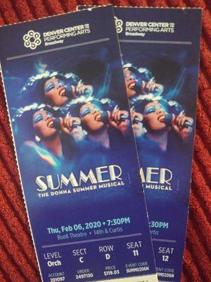 Donna Summer tickets 1/2 off for Sale in Denver, CO