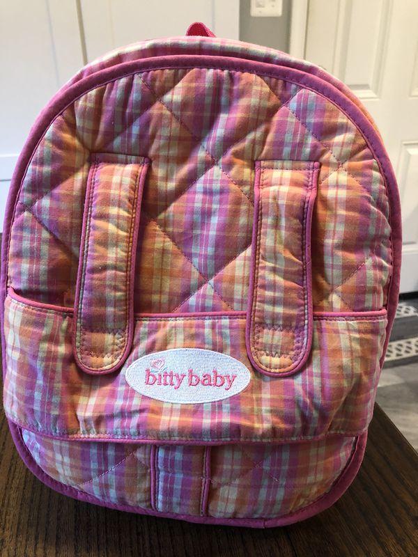 American girl Bitty Baby backpack
