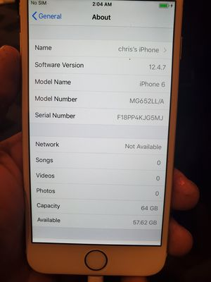 Unlock iPhone 6 64gb for Sale in Austin, TX