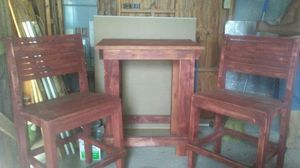 Custom made wooden table with two chairs for Sale in Babson Park, FL