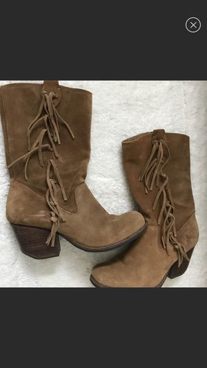 Soft fringe leather boots for Sale in Simpsonville, SC