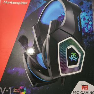 Gaming Headset with Mic for Xbox One PS4 PS5 PC Switch Tablet Smartphone, Headphones Stereo Over Ear Bass 3.5mm Microphone Noise Canceling 7 LED Light for Sale in Compton, CA