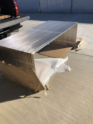 Brand new stainless steel frame dining table/desk with glass top. Retails for over $1000 for Sale in Fowler, CA