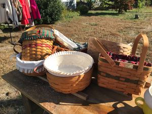 Longaberger baskets for Sale in Pepperell, MA